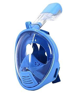 THENICE fácil de Kids de respiración Snorkel Full Face máscara de buceo para cámara de acción