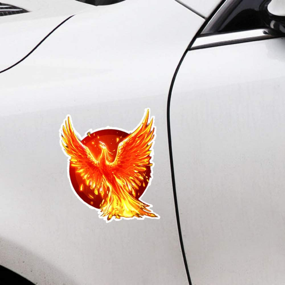 FLAMING PHOENIX  CAR WINDOW DECAL...2 FOR 1 PRICE..PICK YOUR SIZE /& COLOR