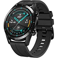 Huawei Watch GT 2 2019 Bluetooth Smartwatch Longer Lasting 2 Weeks Battery Life, Waterproof, Compatible with iPhone and Android, 46mm (Matte Black)