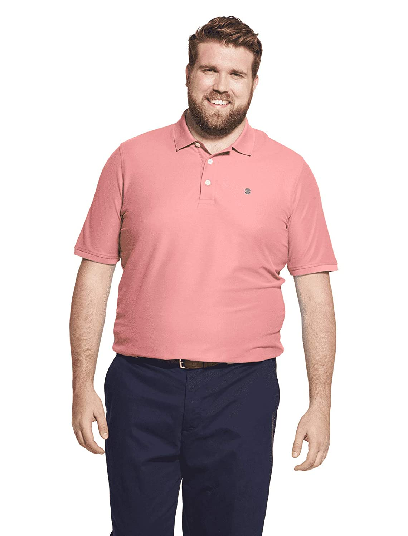 IZOD Mens Big and Tall Advantage Performance Short Sleeve Solid Polo Shirt