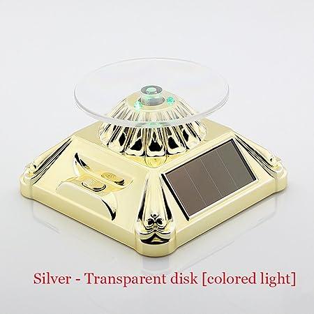 Funciona con energía solar giratorio Tocadiscos expositor con luz ...