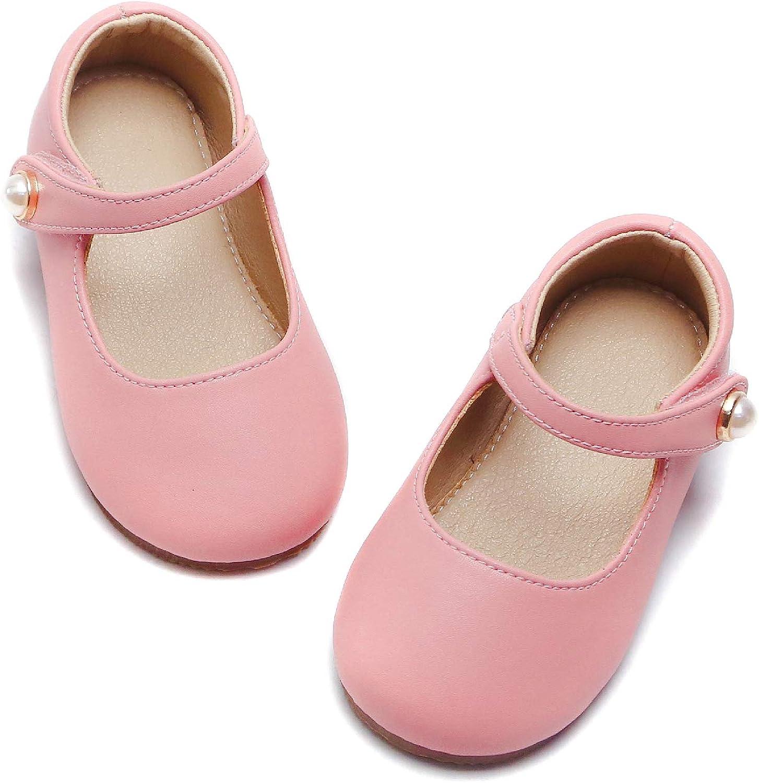 Otter MOMO Toddler//Little Girls Mary Jane Ballerina Flats Shoes Slip-on School Party Dress Shoes
