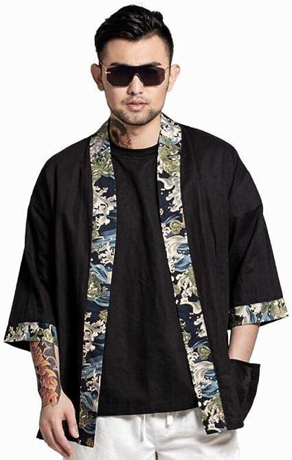 HNBY Los Hombres Japoneses Tradicionales Kimonos Kimono ...