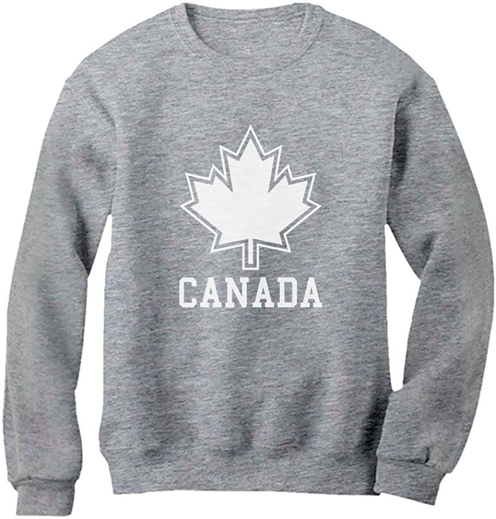 Tstars Canada Day Canada Maple Leaf Canadian Pride Patriotic Women Sweatshirt