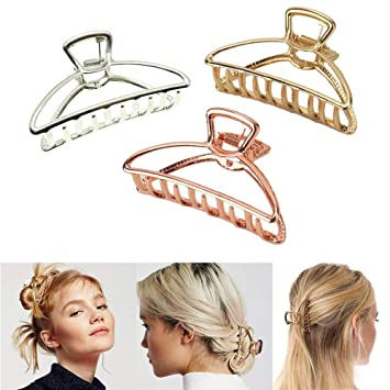 5Pack Large Alligator Hair Clips for Women Strong Hair Clamps for Thick Hair