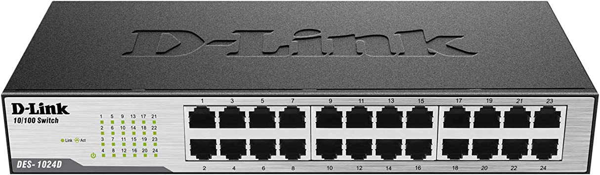 DES-1024D D-Link 24-Port 10//100 Unmanaged Desktop Rackmount Switch W//Ears