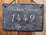 Sassy Squirrel Fully Customizable Slate Home Address Plaque