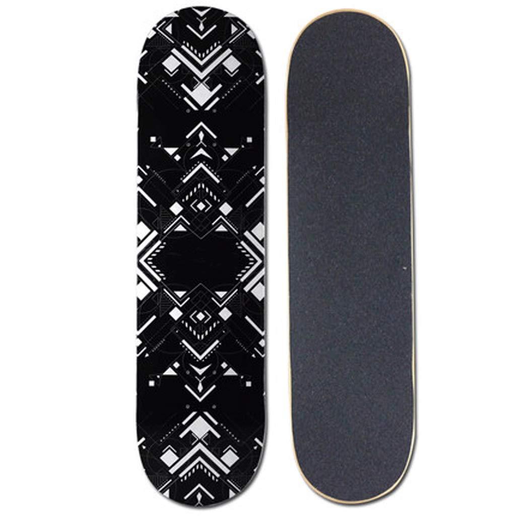 【期間限定送料無料】 ショートボードバイラテラル傾斜スケートボード伝統的な四輪スケートボードストリートスケートボード (色 : Drawing) : B07L2VWHLC white Black and Black white Black and white, プーカ:2f7120d9 --- a0267596.xsph.ru