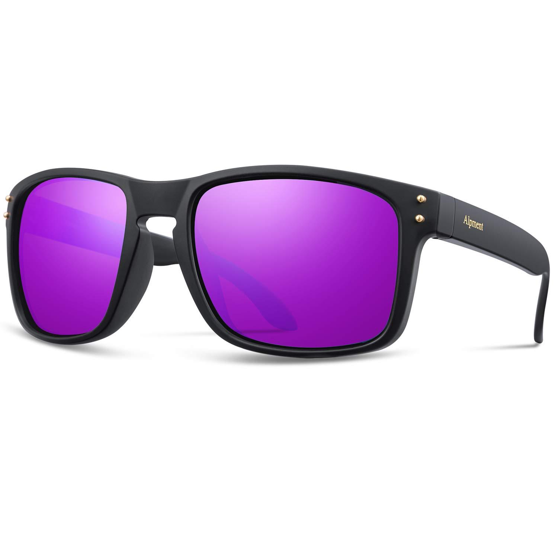 Matte Black&purple Alpment HD Polarized Sunglasses Lightweight Only 22g,UV400 Predection Driving Glasses Gift Case Multiple colors Choice