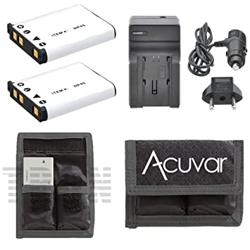Amazon.com: 2 Baterías NP-45 Li-Ion Rechargeable + Car ...
