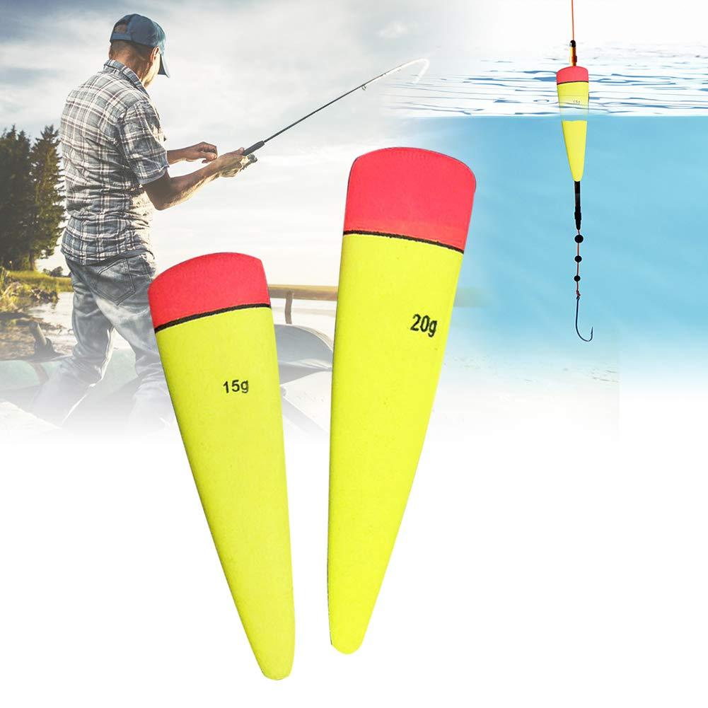 Momangel Simple 3 Unids Tiro Varilla Flotador Deriva Mar Ola Apo Pesca Submarina Mar Pesca Artes Pesca Flotador Yellow Red 15g