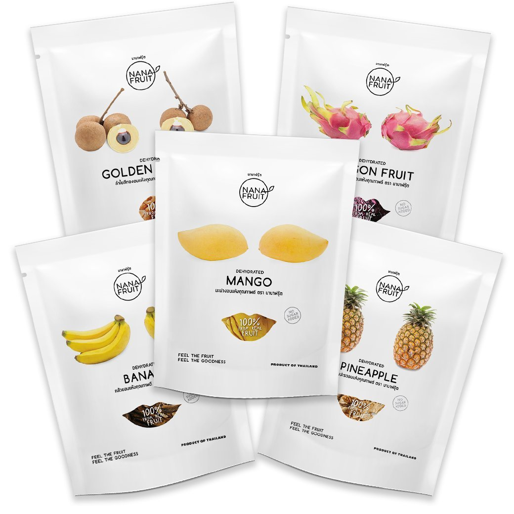 Nana Fruits Dried Mix Pack 50g. (Mango Longan Dragon Pineapple Banana)
