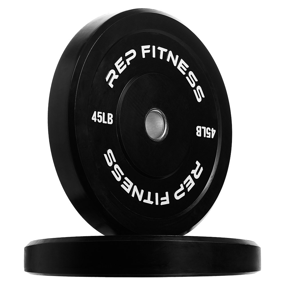 Rep Bumper Plates for Strength and Conditioning Workouts and Weightlifting 45 lb Pair by Rep Fitness (Image #1)