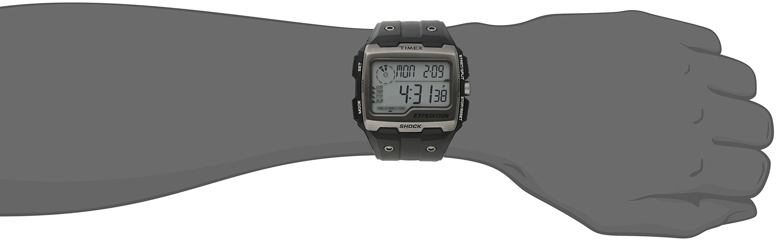 Timex Men's TW4B02500 Expedition Grid Shock Black Resin Strap Watch by Timex (Image #2)