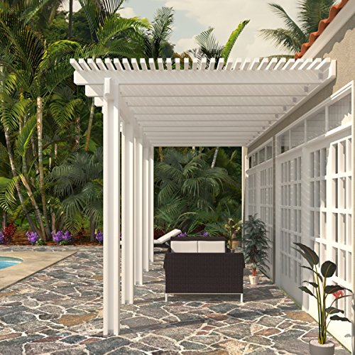 Heritage Patios Aluminum Pergola - 10 ft. x 24 ft. (White) / 20 lbs. by Heritage Patios