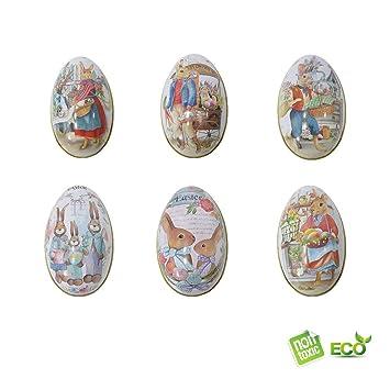 Morbuy Pascua Decoration, Huevos de Pascua Ninos Caja de Dulces Caja de Regalo Manualidades de Bricolaje de Pascua Que Pintan para La Decoración y El Regalo ...