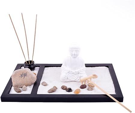 Feng Shui jardín ZEN arena de piedra de Buda de rastrillo de quemador de incienso libre advpro Mxsabrina rojo pulsera de cadena SKU: L1009: Amazon.es: Hogar