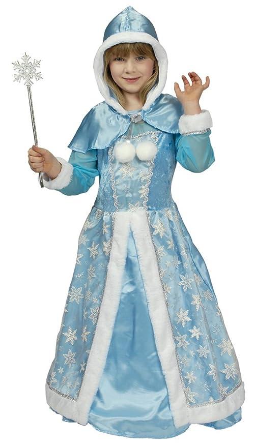 Costume da Regina delle Nevi per Ragazze - Costume per Bambini di Alta  qualità per teatro b77638a5cc6