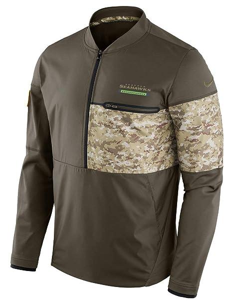 031717292d1 Seattle Seahawks NFL Salute to Service Sideline Men s Hybrid Jacket (Large)