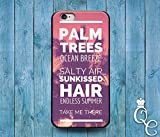 img - for *BoutiqueHouse* iPhone 4 4s 5 5s 5c SE 6 6s plus iPod Touch 4th 5th 6th Gen Cool Beach Palm Tree Summer Hair Quote Phone Cover Cute Sunset Pink Fun Case(iPhone 6 Plus/6S Plus) book / textbook / text book