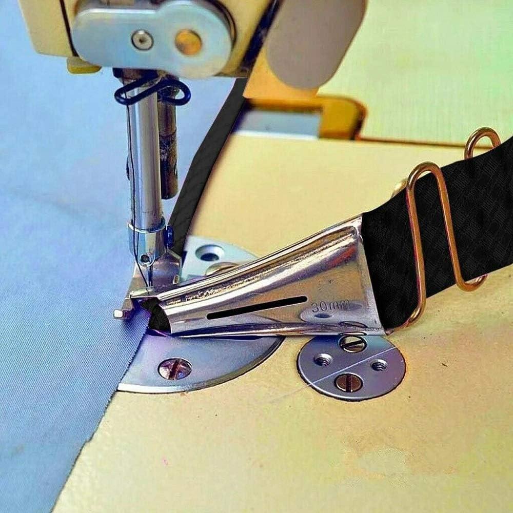 Tube Pliable /à Double Sac sur lourlet avec Tube dourlet /à Angle Droit bigoudi de Machine /à Coudre DDD1234 Feuilles Mobiles excentriques 18 mm recourb/ées sur Les Quatre c/ôt/és /à Bride
