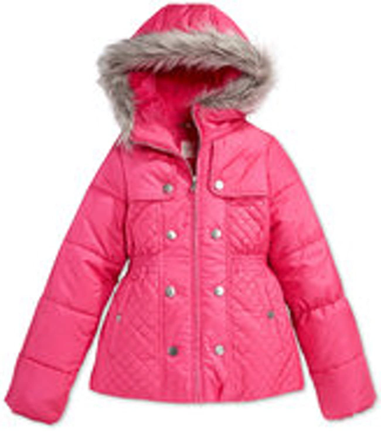 Jessica Simpson Girls Faux-Fur Hood Jacket Size L 14-16