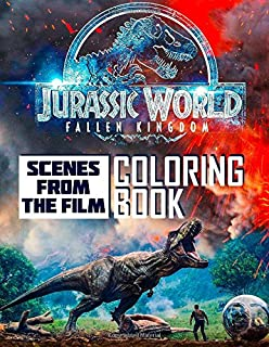 Jurassic World Fallen Kingdom Coloring Book Scenes From The Film
