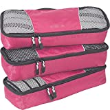 eBags Slim Classic Packing Cubes for Travel - Organizers - 3pc Set - (Peony)