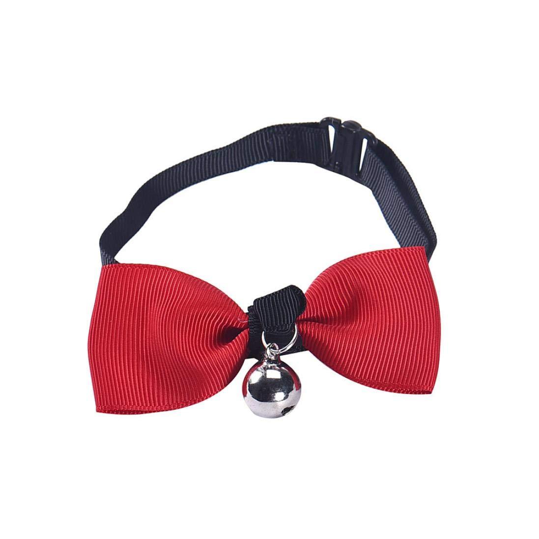 WYXlink pour Animal Domestique Chiot Cravate pour Animal Domestique Chien et Chat Réglable Lovely Papillon Collier avec Chaton Cravate