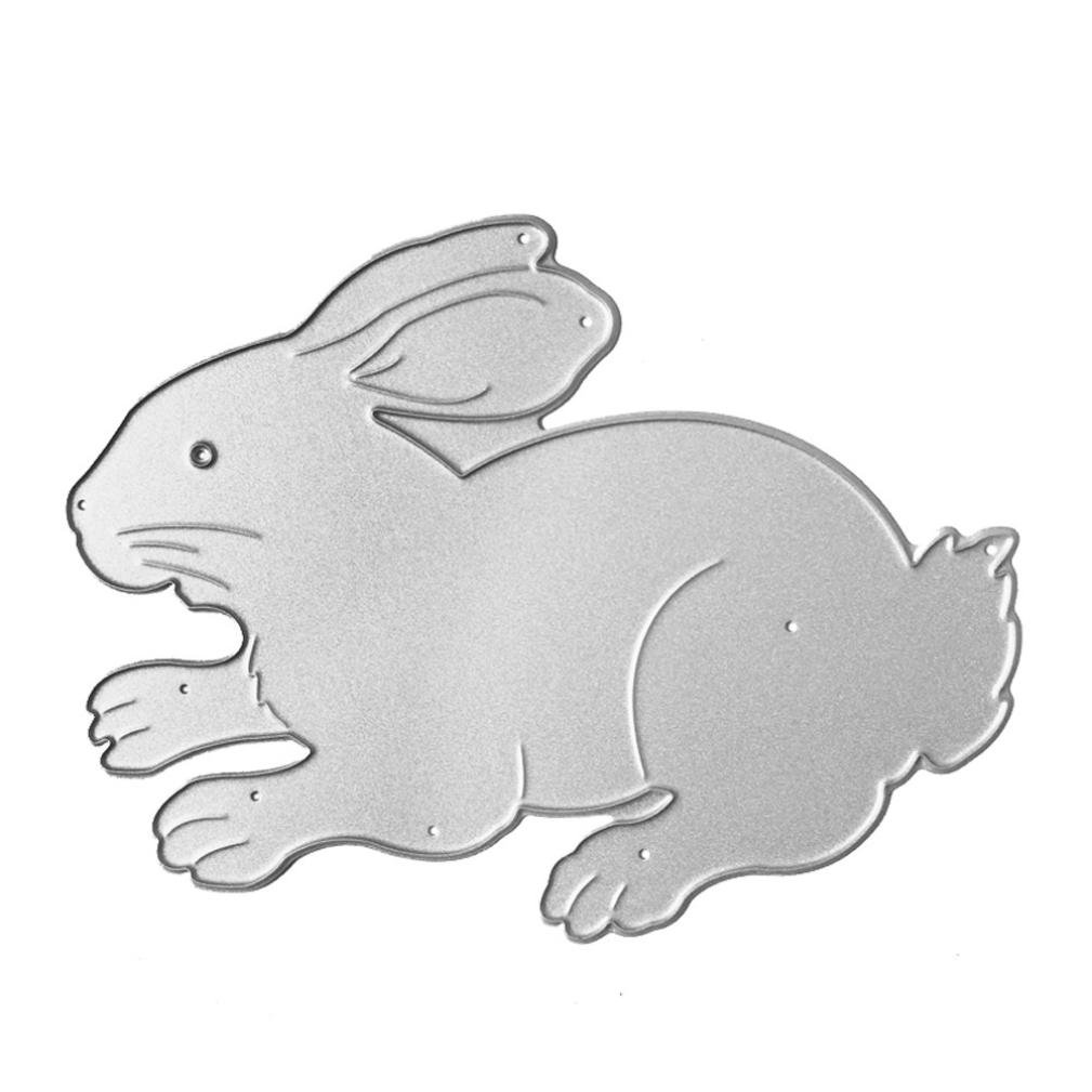 Anboo Chinese Zodiac Metal DIY Embossing Cutting Dies Stencil Scrapbooking Album Paper Card Art Craft (Rabbit) by Anboo (Image #1)