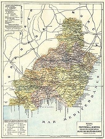 Amazon.com: SPAIN. Mapa de la Provincia de Almeria - 1913 ...