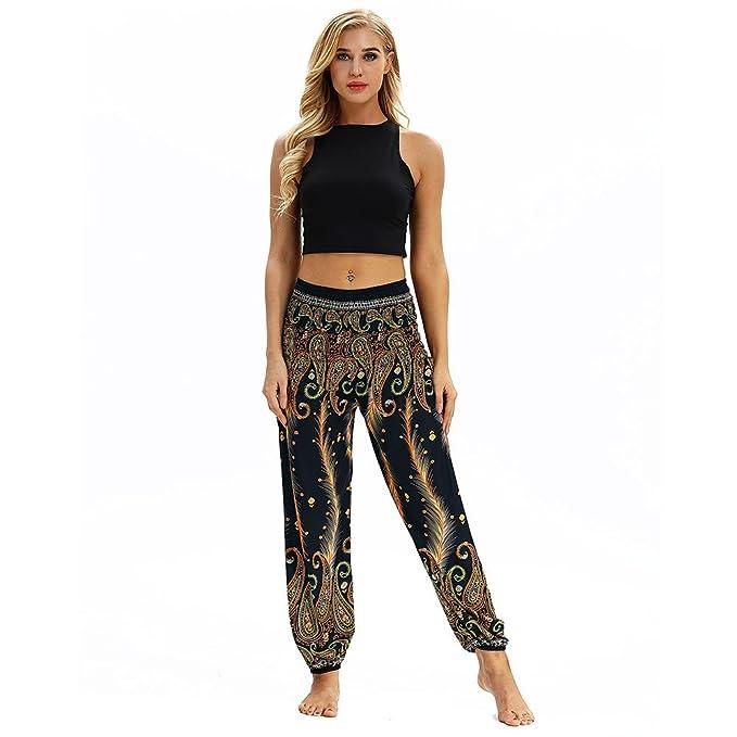 VPASS Mujer Hombre Pantalones, Pantalones de Yoga Mujer Yoga ...