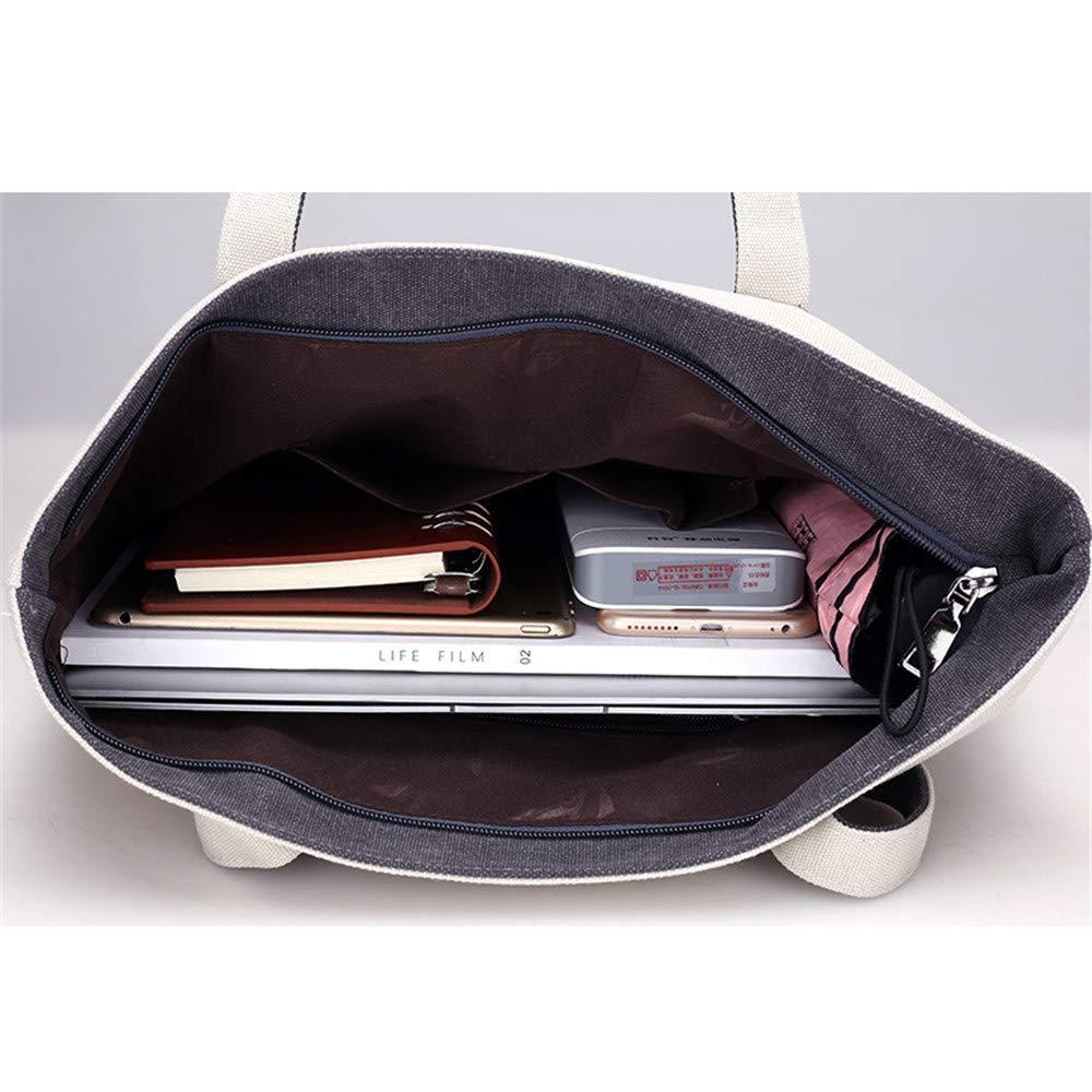 Cdnb Umhängetasche Frauen Schulter Bag_Fashion Canvas Frauen Big Bag Bag Bag Frauen Umhängetasche Portable Tote Bag, schwarz B07J1YKNSL Umhngetaschen Qualifizierte Herstellung a9dc82
