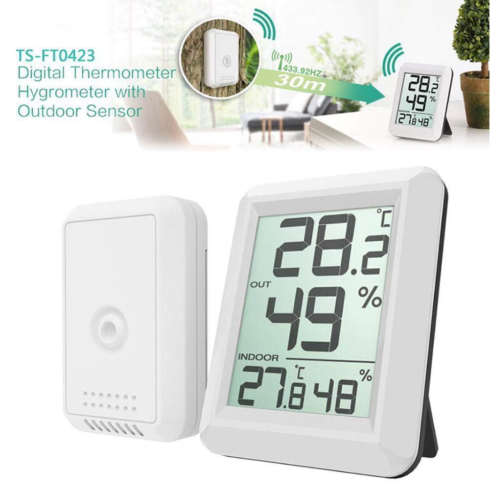 FidgetFidget Digital Wireless Indoor Outdoor Thermo-Hygrometer Thermometer Humidity Meter