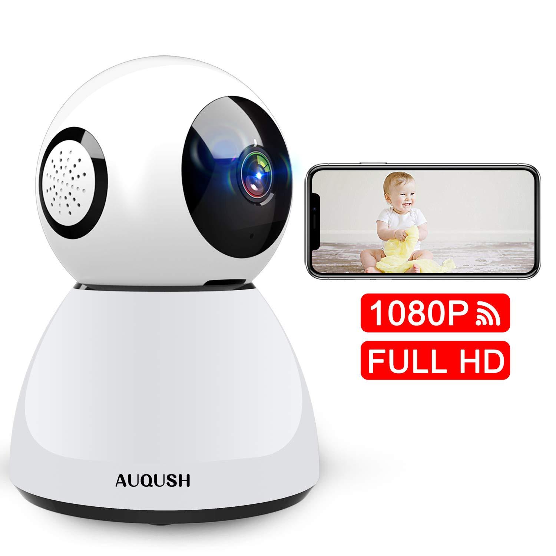 1080P Cámara IP WiFi Cámara de Vigilancia Interior Camaras de Seguridad Baby Monitor con Visión Nocturna Detección de Movimiento Full HD Audio Bidireccional (Blanco) product image