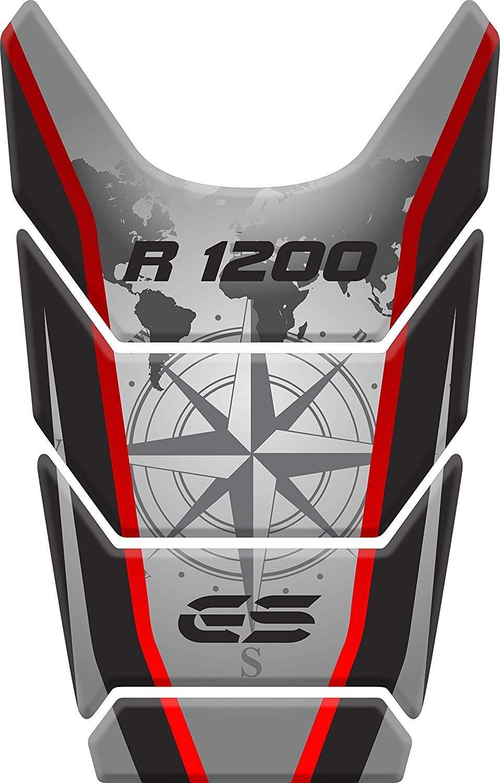 Rouge Tankpad Sticker Protection de Reservoir Moto Autocollant en Gel Polymer compatible pour BM.W BM.W R 1200 GS R1200GS ADV Adventure