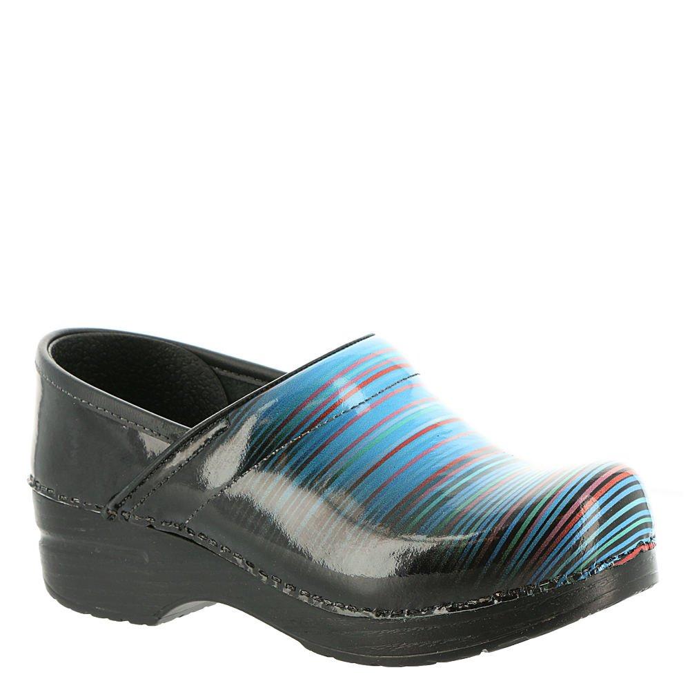 Dansko Women's Professional Clog, Faded Stripe Patent, 40 M EU (9.5-10 US)