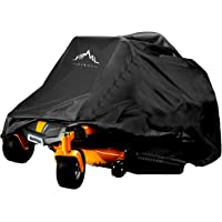 Himal Outdoors Zero-Turn Mower Cover, Heavy Duty 600D Polyester Oxford, UV Protection Universal Fit with Drawstring & Cover Storage Bag, Tractor Cover Up to 60″ Decks