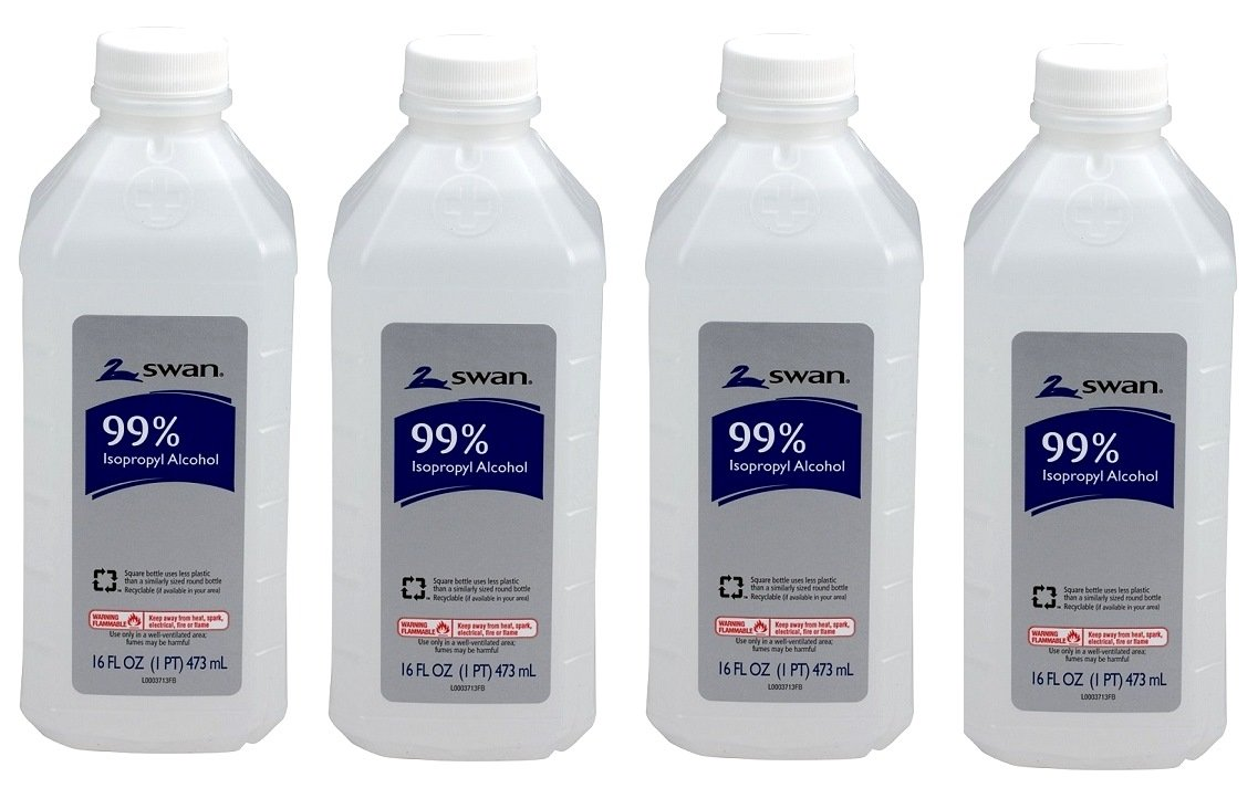 Swan Isopropyl Alcohol 99 Percent - Swan 16 Ounce 99 Percent Pack of 4 by Unknown