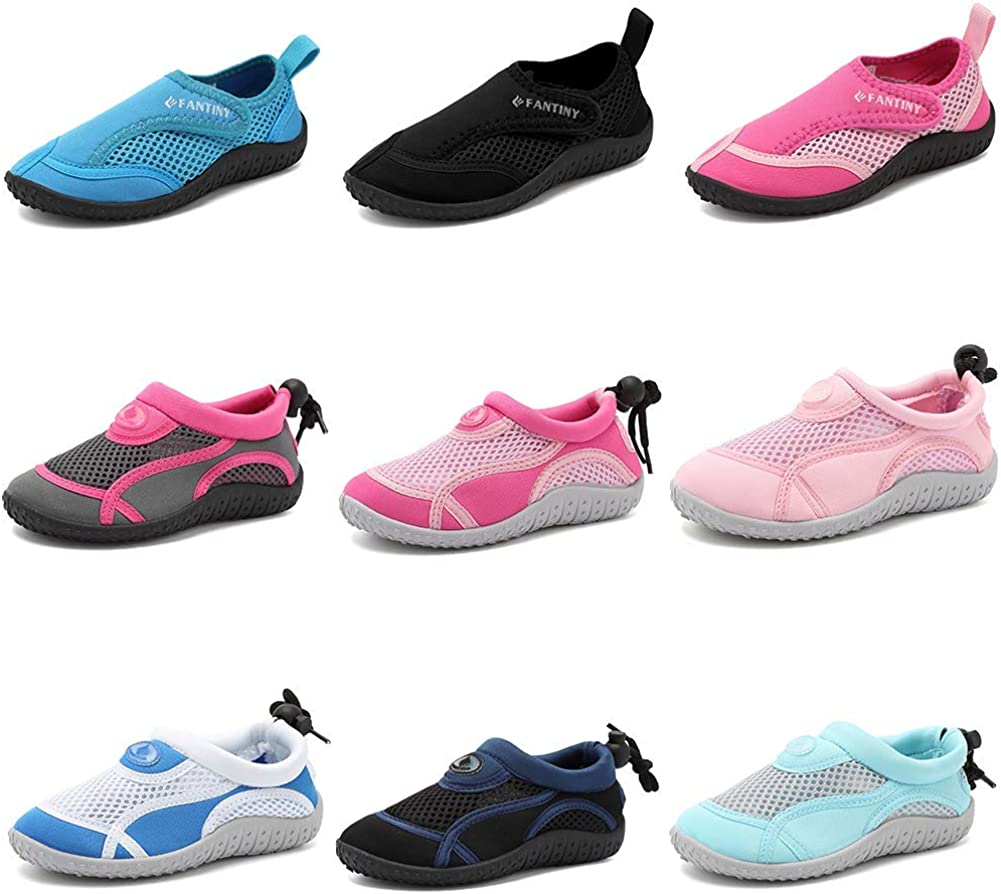 CIOR Toddler Kid Water Shoes Aqua Shoe Swimming Pool Beach Sports Quick Drying Athletic Shoes for Girls and Boys