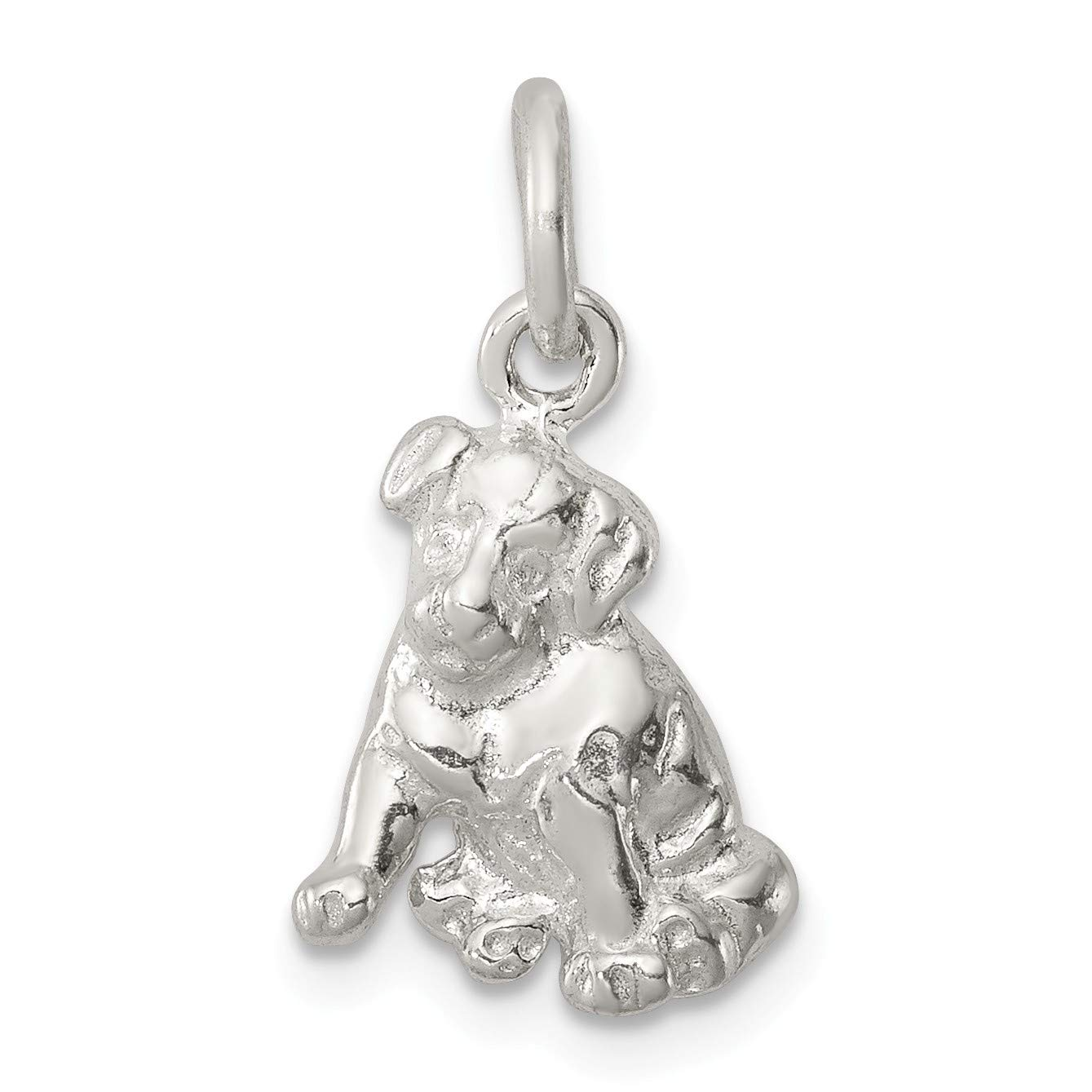 Bonyak Jewelry Sterling Silver Dog Charm