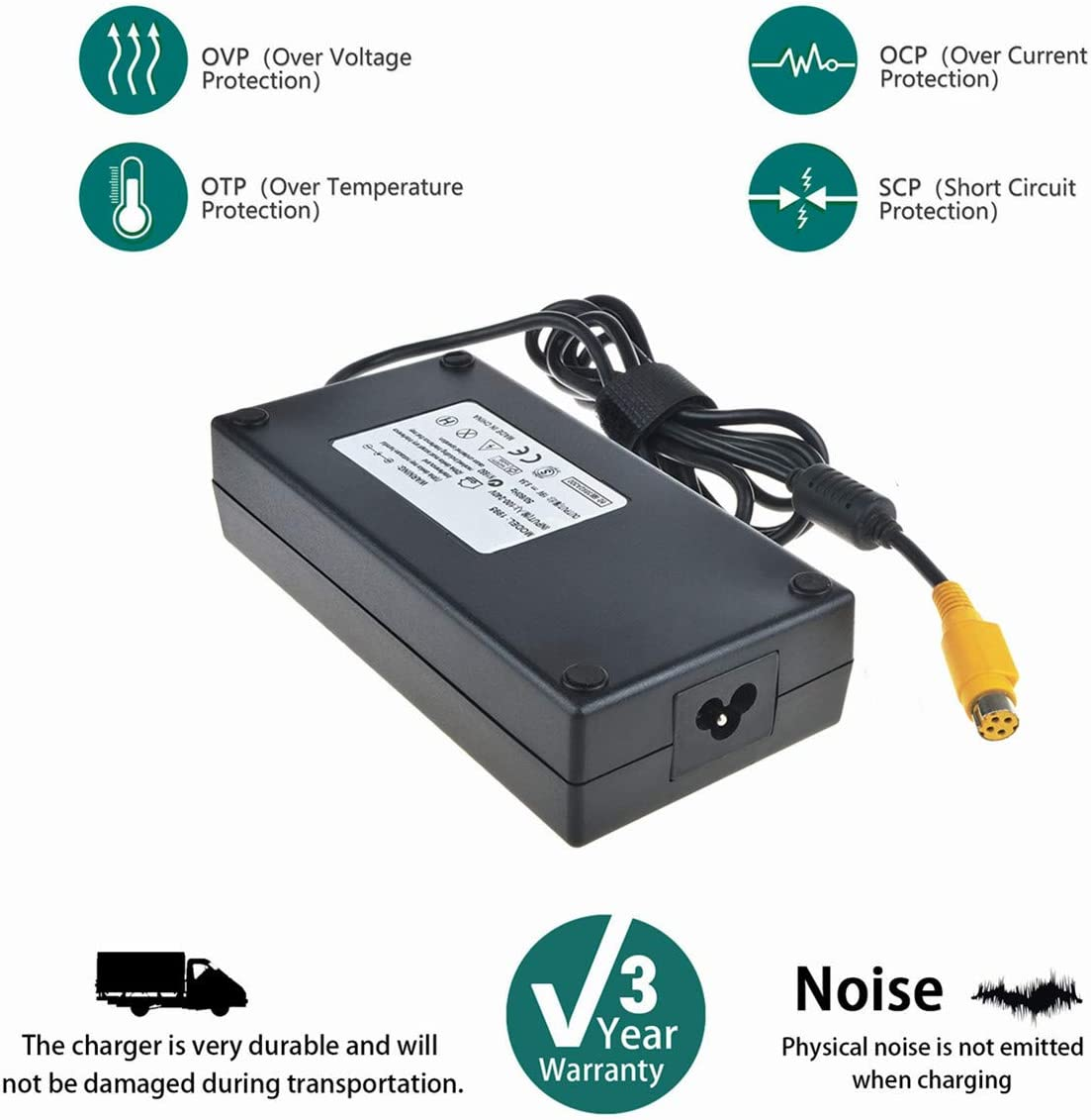 SLLEA AC//DC Adapter Charger for Toshiab Qosmio X70 X70-A-13K X70-A0DX X70-A-0DX X70-A0DW X70-A-0DW X70-A00U X70-A-00U X70-A014 X70-A-014 Notebook PC Power Supply Cord Cable