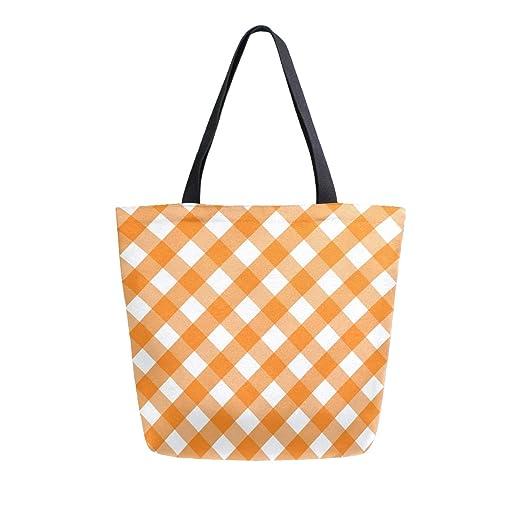 ZZXXB Bolsa de compras reutilizable de tela de tartán para ...