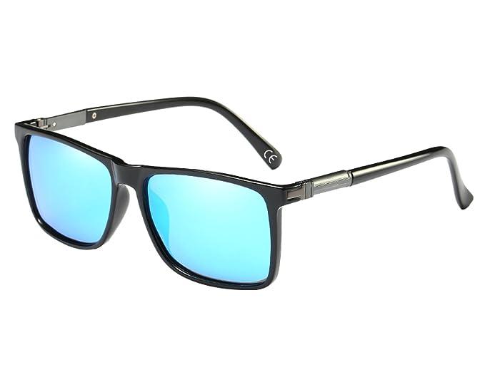 215038870b BVAGSS Retro Gafas Polarizadas De Sol Para Hombre 100% Anti-UV (Black Frame