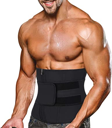 Men Gym Body Shaper Waist Training Back Support Shapewear Latex Rubber Girdle US