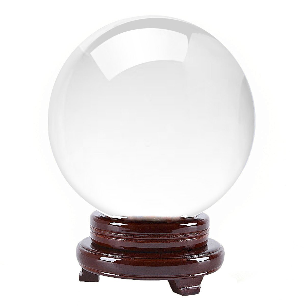 Amlong Crystal Clear Crystal Ball 8'' 200mm with Free Wooden Stand