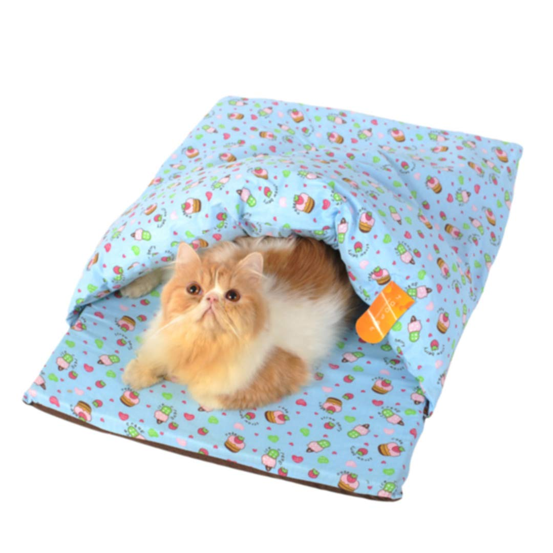 Light bluee Medium Light bluee Medium Pet Dog Cat Warm Soft House Sleeping Bag Removable Washable