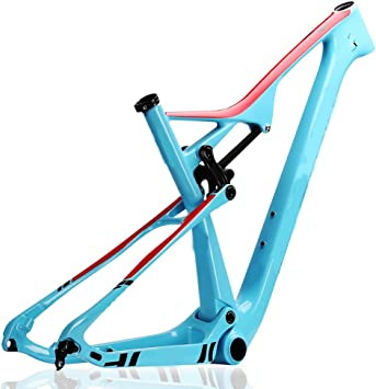 Cuadro de carbono Mountain Bike (XC) T800 MTB Cuadro de bicicleta de carbono moldeado EPS 29Er brillante de fibra de carbono 29Er,17.5: Amazon.es: Bricolaje y herramientas