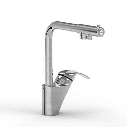 kitchen faucet with separate handle brushed nickel parmir water systems ssk420 dual handle kitchen faucet with separate drinking valve and