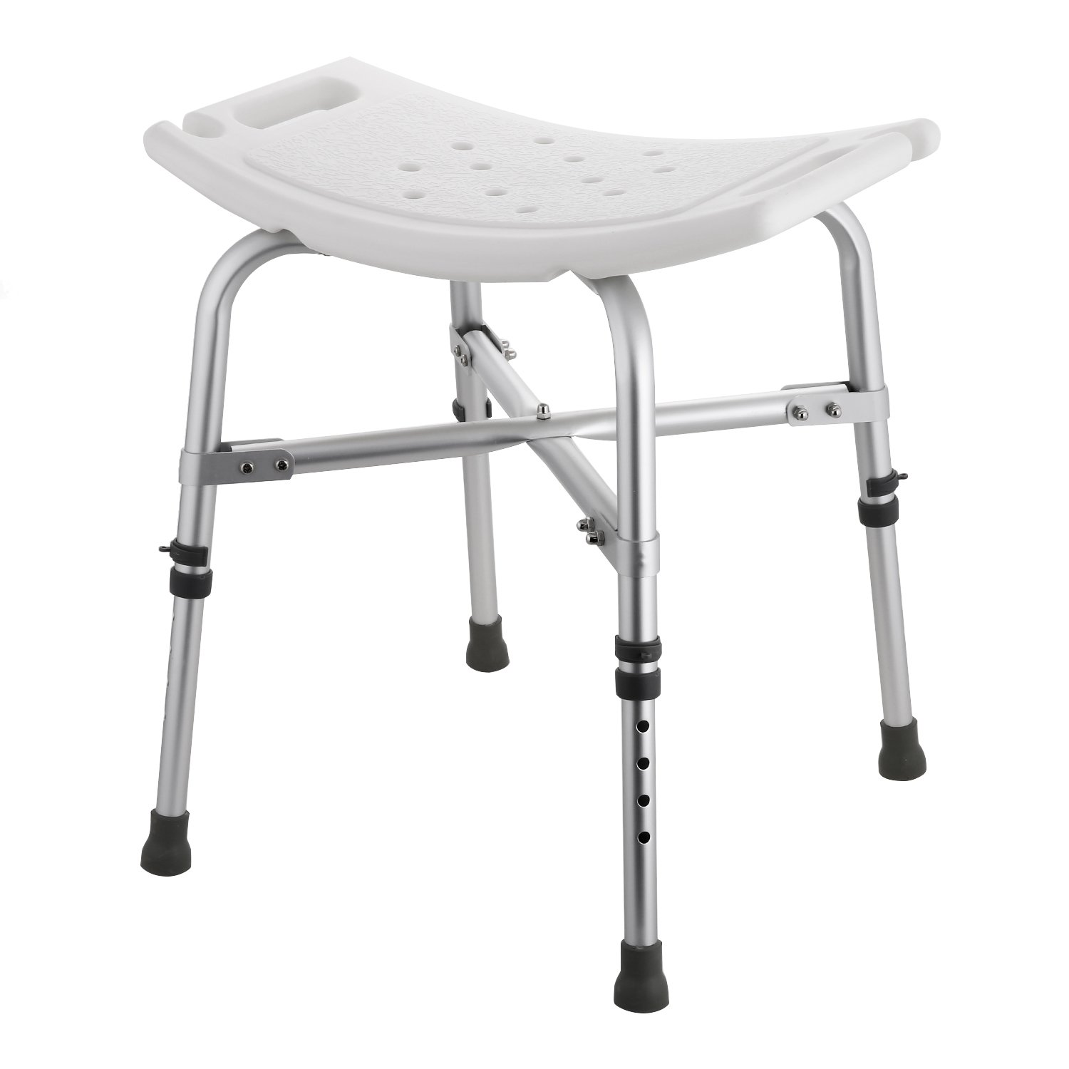 Flagup Heavy Duty Bath Bench, Adjustable Anti-Slip Bathtub Shower Stool Chair Seat,Supports up to 280lbs (Type B)